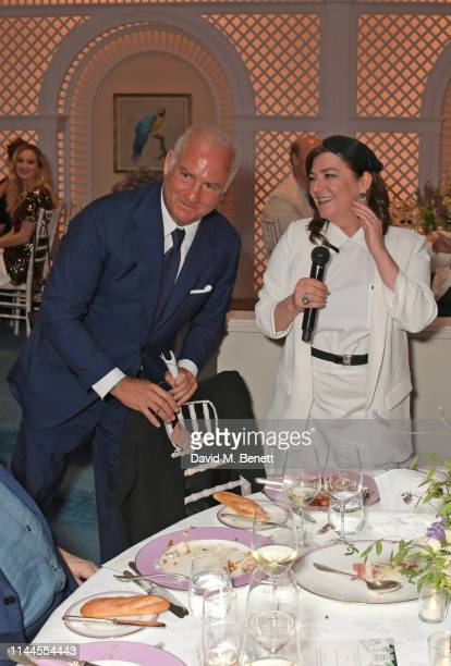 CEO of Finch Partners Charles Finch and Lynne Ramsay attend the 10th Annual Filmmakers Dinner hosted by Charles Finch Edward Enninful and Michael...