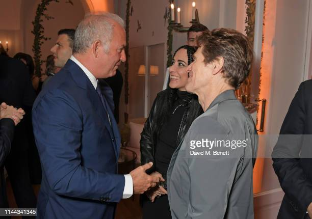 CEO of Finch Partners Charles Finch Giada Colagrande and Willem Dafoe attend the 10th Annual Filmmakers Dinner hosted by Charles Finch Edward...