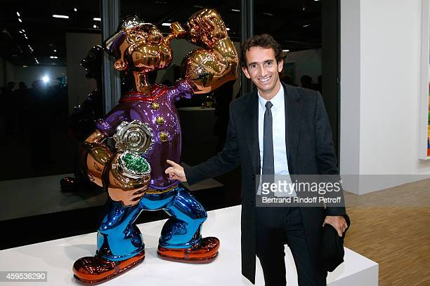 CEO of Fnac Alexandre Bompard attends the 'Jeff Koons' Retrospective Exhibition Opening Evening at Beaubourg on November 24 2014 in Paris France