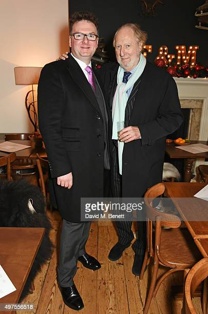 CEO of Fortnum Mason Ewan Venters and Ed Victor attend the opening party of Skate at Somerset House with Fortnum Mason at Somerset House on November...