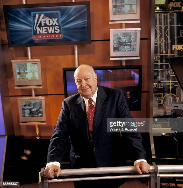 CEO of Fox News Roger Ailes poses at a portrait session at the Fox Studio in New York City