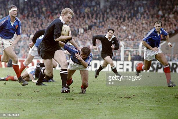 XV of France fights against New Zealand All Blacks on November 8 1986 in Toulouse