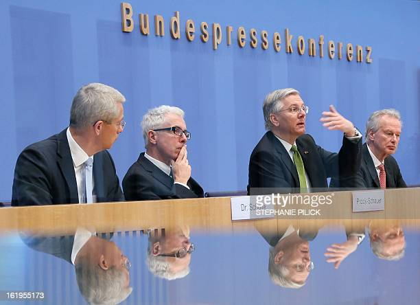 Of Fraport AG Stefan Schulte , CEO of Air Berlin Wolfgang Prock-Schauer, CEOof Lufthansa Christoph Franz and President of the Federal Association of...