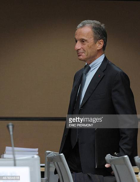 Of French state-owned electricity company EDF Henri Proglio arrives for his hearing in front of a French parliamentary investigating committee on...