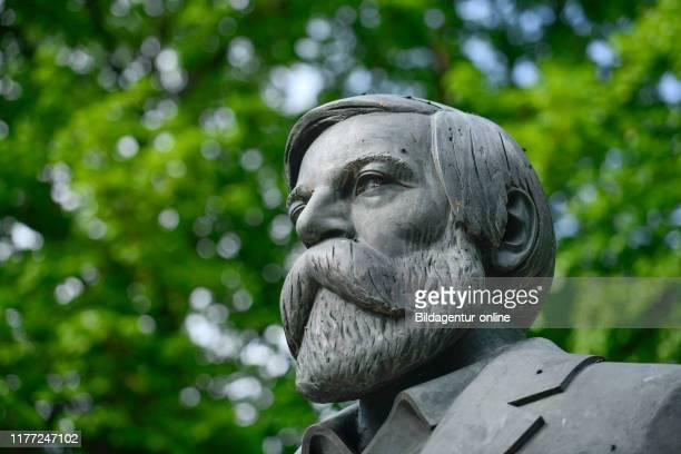 Of Friedrich Engel, Marx angel's monument, Karl's Liebknecht street, middle, Berlin, Germany, Friedrich Engels, Marx-Engels-Denkmal,...