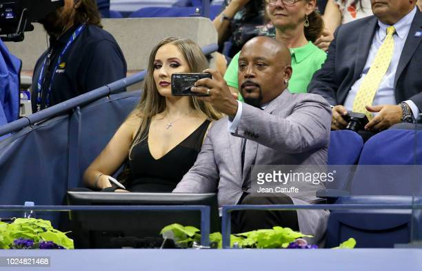 CEO of FUBU Daymond John and his fiancee Heather Taras attend the opening night gala of the 2018 tennis US Open held at Arthur Ashe stadium of the...