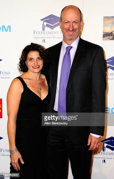 CEO of Fulfillment Fund Kenny Rogers and wife Laura Rogers arrive at the Fulfillment Fund Stars Gala at The Beverly Hilton Hotel on October 24 2012...