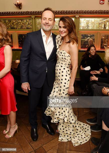 CEO of FX Network and FX Productions John Landgraf and Keri Russell attend 'The Americans' Season 6 Premiere After Party at Tavern On The Green on...