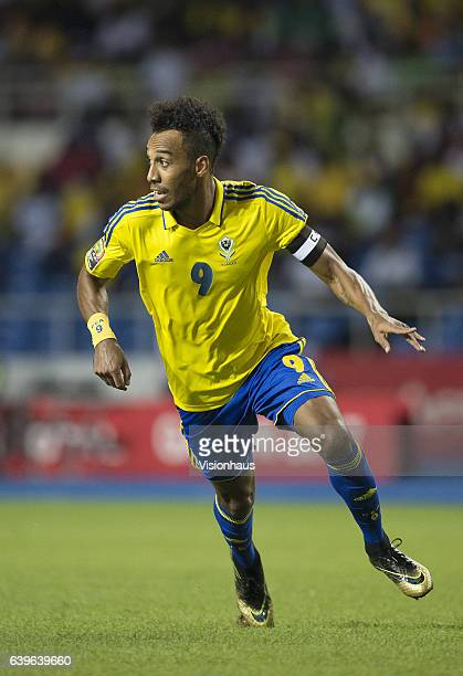 AUBAMEYANG of Gabon during the Group A match between Cameroon and Gabon at Stade de L'Amitie on January 22 2017 in Libreville Gabon