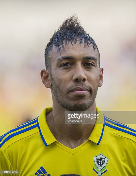 AUBAMEYANG of Gabon during the Group A match between Gabon v GuineaBissau at Stade de L'Amitie on January 14 2017 in Libreville Gabon