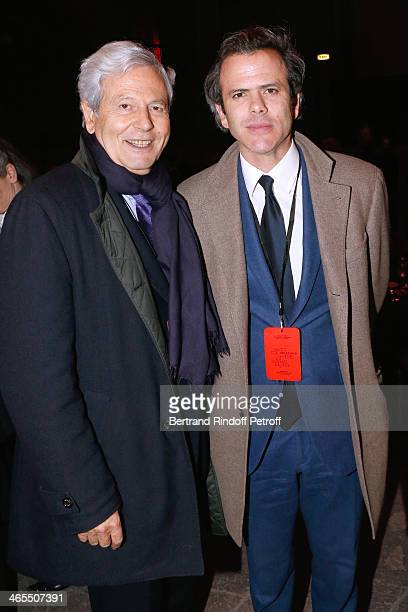 CEO of Galeries Lafayette Philippe Houze and his son Guillaume Houze attend the 'Nuit De La Chine' Opening Night at Grand Palais on January 27 2014...
