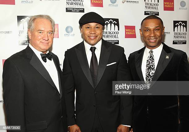 CEO of Gallup Jim Clifton rapper LL Cool J and President and CEO Thurgood Marshall College Fund John Taylor Jr attend the Thurgood Marshall College...