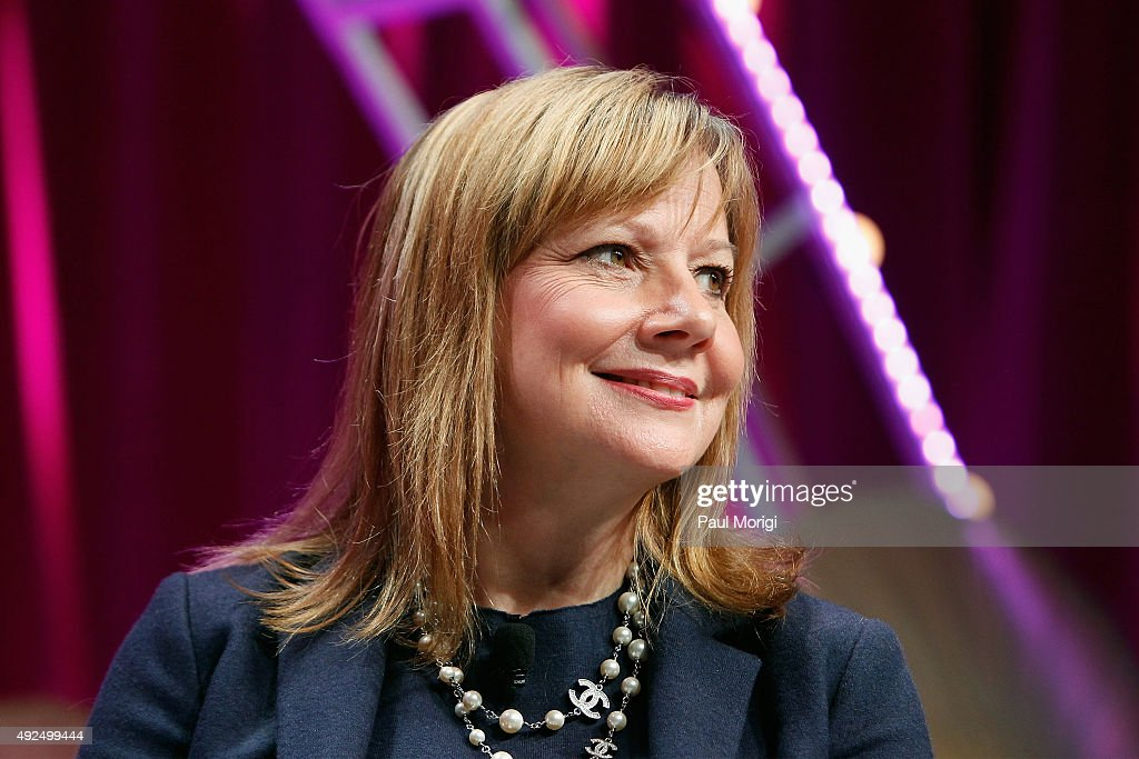 CEO of General Motors Mary Barra speaks onstage during Fortune's Most Powerful Women Summit - Day 2 at the Mandarin Oriental Hotel on October 13, 2015 in Washington, DC.