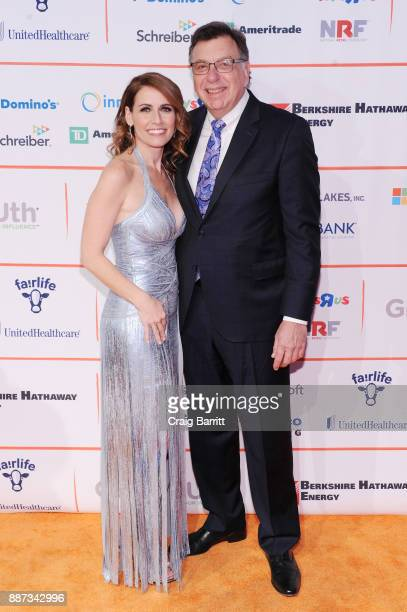 CEO of GENYOUth Alexis Glick and CEO of DMI Thomas Gallagher attend the Second Annual GENYOUth Gala at Intrepid SeaAirSpace Museum on December 6 2017...