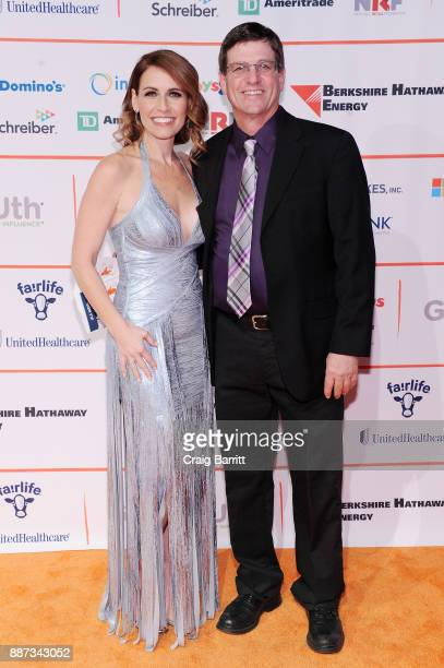 CEO of GENYOUth Alexis Glick and Jerry Messer attend the Second Annual GENYOUth Gala at Intrepid SeaAirSpace Museum on December 6 2017 in New York...