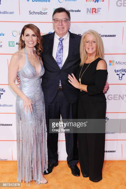 CEO of GENYOUth Alexis Glick CEO of DMI Thomas Gallagher and President at DMI Barbara O'Brien attend the Second Annual GENYOUth Gala at Intrepid...