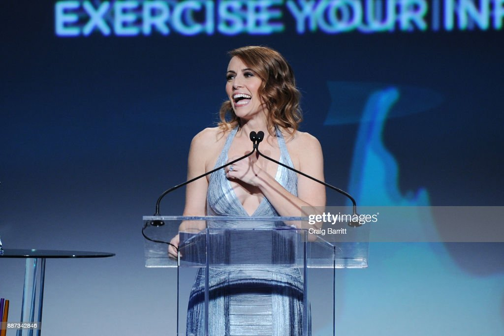 CEO of GENYOUth Alexis Glick speaks onstage during the Second Annual GENYOUth Gala at Intrepid Sea-Air-Space Museum on December 6, 2017 in New York City.