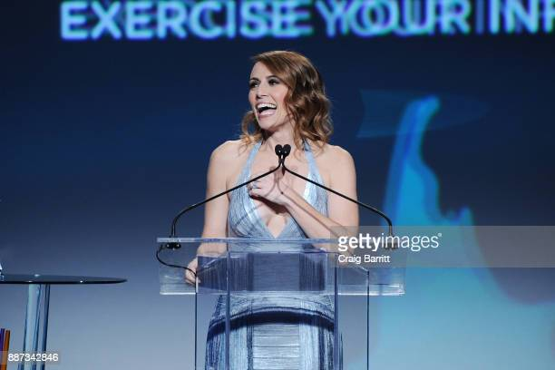 CEO of GENYOUth Alexis Glick speaks onstage during the Second Annual GENYOUth Gala at Intrepid SeaAirSpace Museum on December 6 2017 in New York City