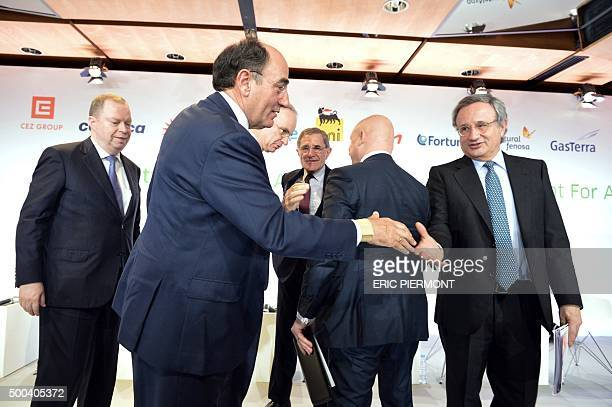 CEO of German power supplier RWE Peter Terium President of Spanish energy group Iberdrola Ignacio Galan CEO of German power group EON Johannes...