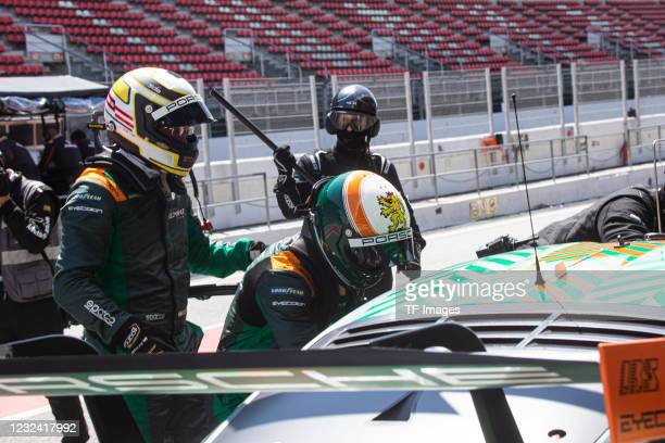 Of Germany - PORSCHE 911 RSR - 19 LMGTE - MICHAEL FASSBENDER of Irland during the European Le Mans Series In Barcelona on April 18, 2021 in...