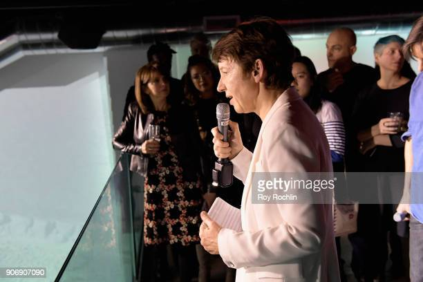 CEO of Getty Images Dawn Airey speaks during the Getty Images 2017 Year In Focus client event on January 18 2018 in New York City