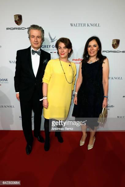 CEO of Glashuette Original Thomas Meier his wife and Kirsten Niehuus attend the Medienboard BerlinBrandenburg Reception sponsored by Glashuette...