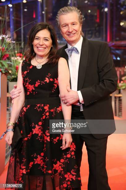 """Of Glashuette Thomas Meier and his wife Graziella Meier attend the """"The Kindness Of Strangers"""" premiere during the 69th Berlinale International Film..."""