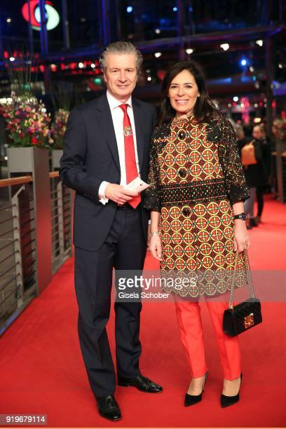 Of Glashuette Thomas Meier and his wife Graziella Meier attend the 'Transit' premiere during the 68th Berlinale International Film Festival Berlin at...