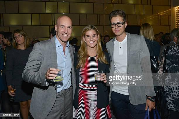 EVP of Global Advertising at DuJour Media Marc Berger Gwen Beckham and Robin Marsicano attend Jason Binn's DuJour Magazine celebration of Lenny...