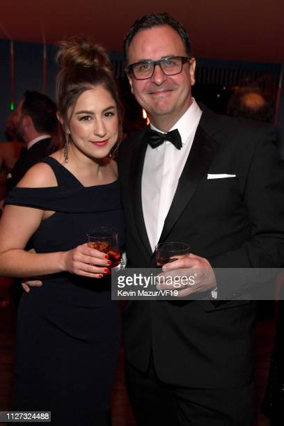 VP of Global Entertainment at Getty Images Kirstin Benson and SVP of Global Head of Content at Getty Images Ken Mainardis attend the 2019 Vanity Fair...