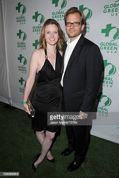 "Of Global Green USA Matt Petersen and Justine Musk arrive at Global Green USA's 8th annual pre-Oscar party ""Greener Cities For A Cooler Planet"" held..."