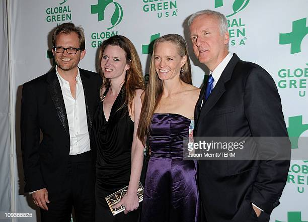 Of Global Green USA Matt Petersen, Justine Musk, actress Suzy Amis, and producer James Cameron arrive at Global Green USA's 8th annual pre-Oscar...