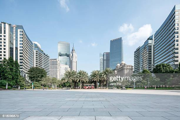 cbd of guangzhou - courtyard stock pictures, royalty-free photos & images