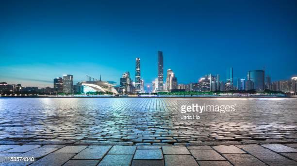cbd of guangzhou, south china. - guangzhou stock pictures, royalty-free photos & images