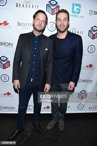 CEO of GuardLab Aidan Butler and Cory Vitiello attend the Jose Bautista AllStar Weekend kickoff party with special guest set by DJ Snoopadelic AKA...