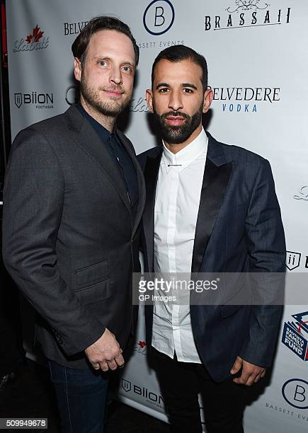 CEO of GuardLab Aidan Butler and Toronto Blue Jay player Jose Bautista attend the Jose Bautista AllStar Weekend kickoff party with special guest set...