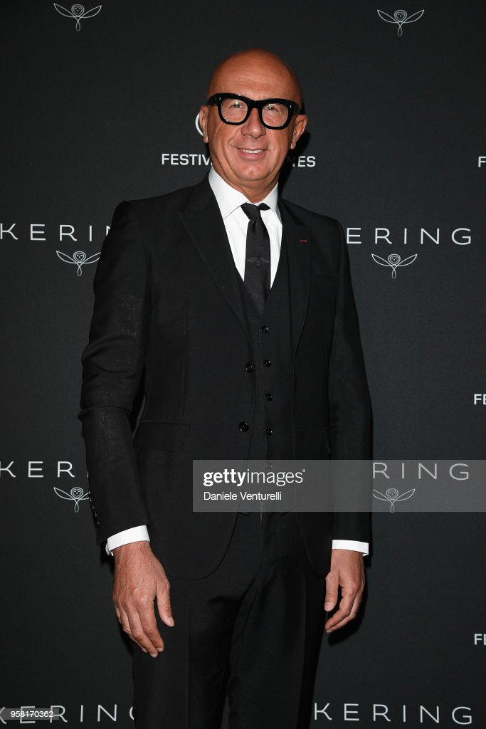 CEO of Gucci Marco Bizzarri attends the Women in Motion Awards Dinner, presented by Kering and the 71th Cannes Film Festival, at Place de la Castre on May 13, 2018 in Cannes, France.