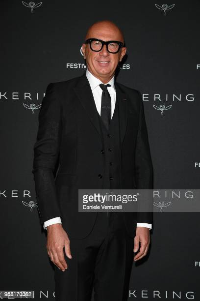 Of Gucci Marco Bizzarri attends the Women in Motion Awards Dinner, presented by Kering and the 71th Cannes Film Festival, at Place de la Castre on...