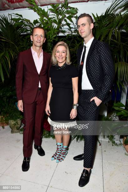 CMO of Gucci Robert Triefus CRO of Artsy Nina Lawrence and Founder at Artsy Carter Cleveland attends the Gucci X Artsy dinner at Faena Hotel on...
