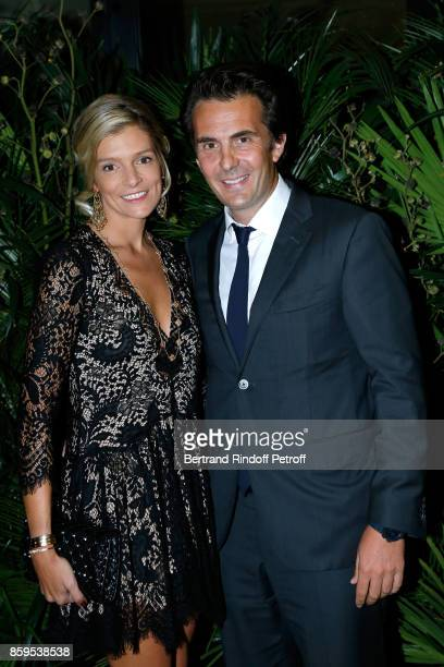 CEO of Havas Yannick Bollore and his wife Chloe attend the 'Diner des Amis de Care' at Hotel Peninsula Paris on October 9 2017 in Paris France