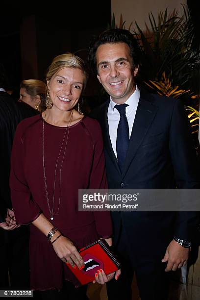 CEO of Havas Yannick Bollore and his wife Chloe attend the FrenchAmerican Foundation Dinner Gala at Palais de Chaillot on October 24 2016 in Paris...