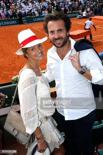 CEO of Havas Yannick Bollore and his wife Chloe attend the Women Final of the 2018 French Open Day Fourteen at Roland Garros on June 9 2018 in Paris...