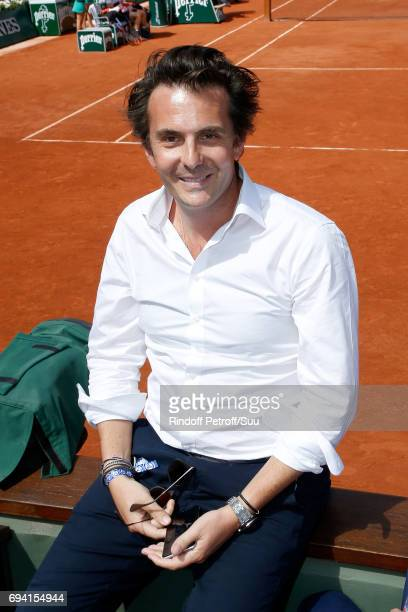 CEO of Havas Yannick Bollore attends the 2017 French Tennis Open Day Thirteen at Roland Garros on June 9 2017 in Paris France