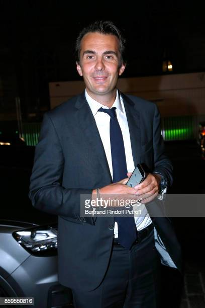 CEO of Havas Yannick Bollore attends the 'Diner des Amis de Care' at Hotel Peninsula Paris on October 9 2017 in Paris France