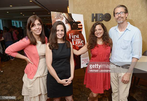 SVP of HBO Documentary Films Nancy Abraham Amy Meselson filmmaker/film subject Nina Davenport and film subject Eric Oleson attend the special...