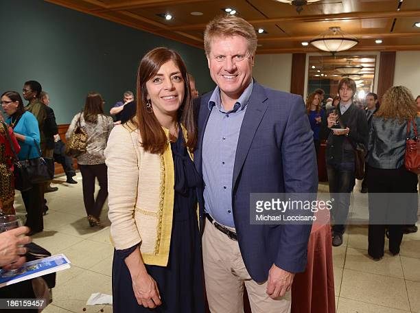 SVP of HBO Documentary Films Nancy Abraham and film subject/Head of Special Prosecution Office of Kosovo Jonathan Ratel attend a special screening of...