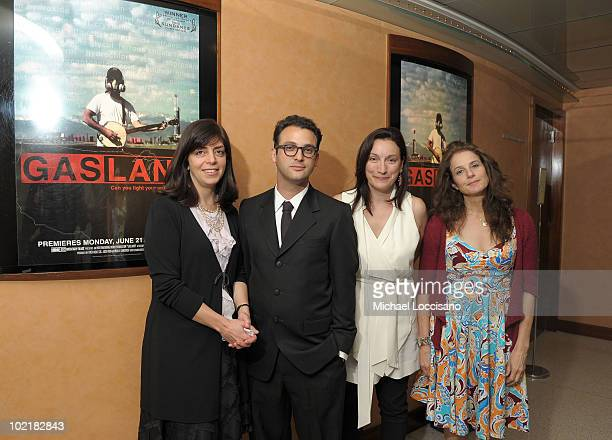 SVP of HBO Documentary Films Nancy Abraham filmmaker Josh Fox producer Trish Adlesic and actress and creative consultant to the film Debra Winger...