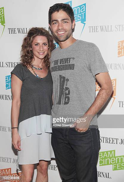 VP of HBO Documentary Films Sara Bernstein and actor Adrian Grenier attend the screening of 'Teenage Paparazzo' at BAM Rose Cinemas on June 19 2010...