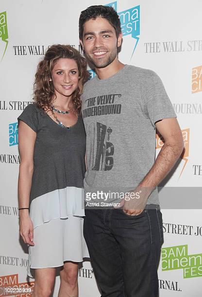 VP of HBO Documentary Films Sara Bernstein and actor Adrian Grenier attend the screening of 'Teenage Paparazzo' at BAM Rose Cinemas on June 19 2010...