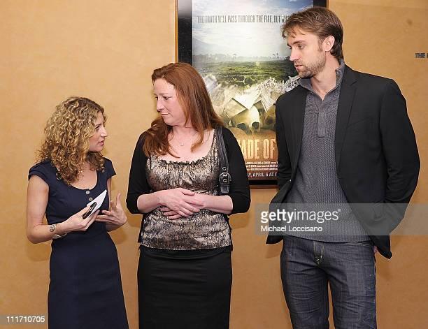 VP of HBO Documentary Films Sara Bernstein director Deborah Scranton and producer Reid Carolin attend the HBO Documentary Screening of Earth Made Of...